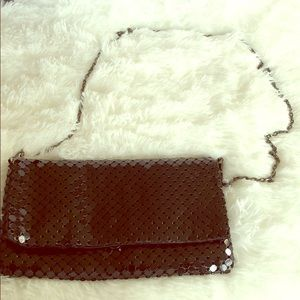 Urban Expressions black sequin chain crossbody bag